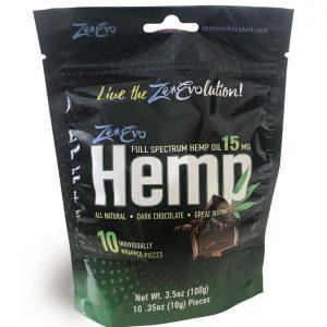 ZenEvo Hemp Chocolate 10 Count Bag